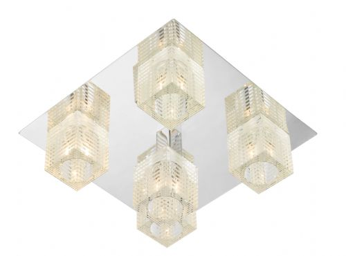 Oswald Chrome Flush Ceiling Light OSW5450 (050512)